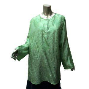 New Victoria's Secret Silk Kurta Top Light Green